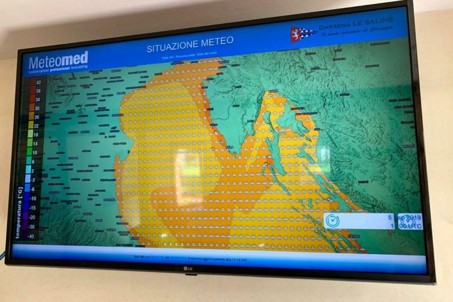 Un nuovo infopoint meteo presso Darsena Le Saline