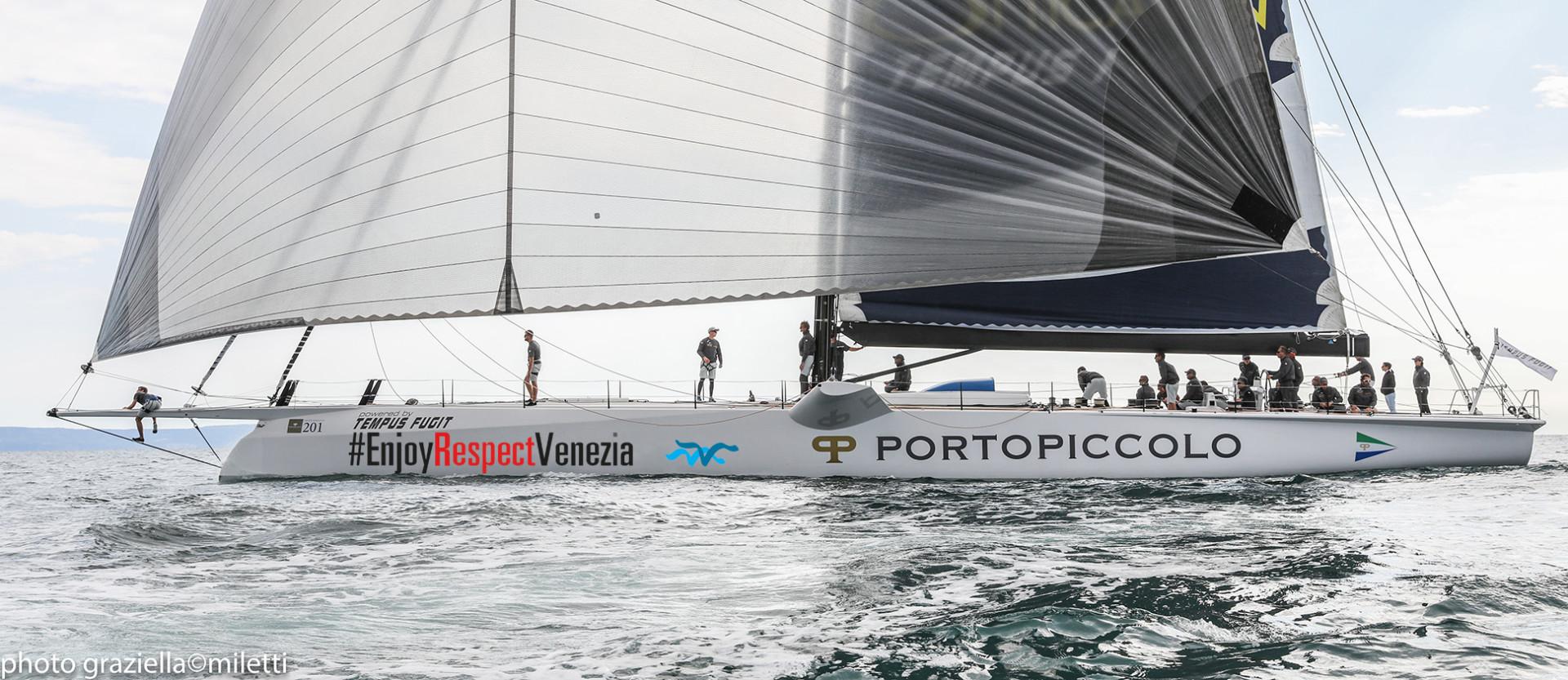 Portopiccolo Tempus Fugit dello skipper Enrico Zennaro fa rotta verso Venezia