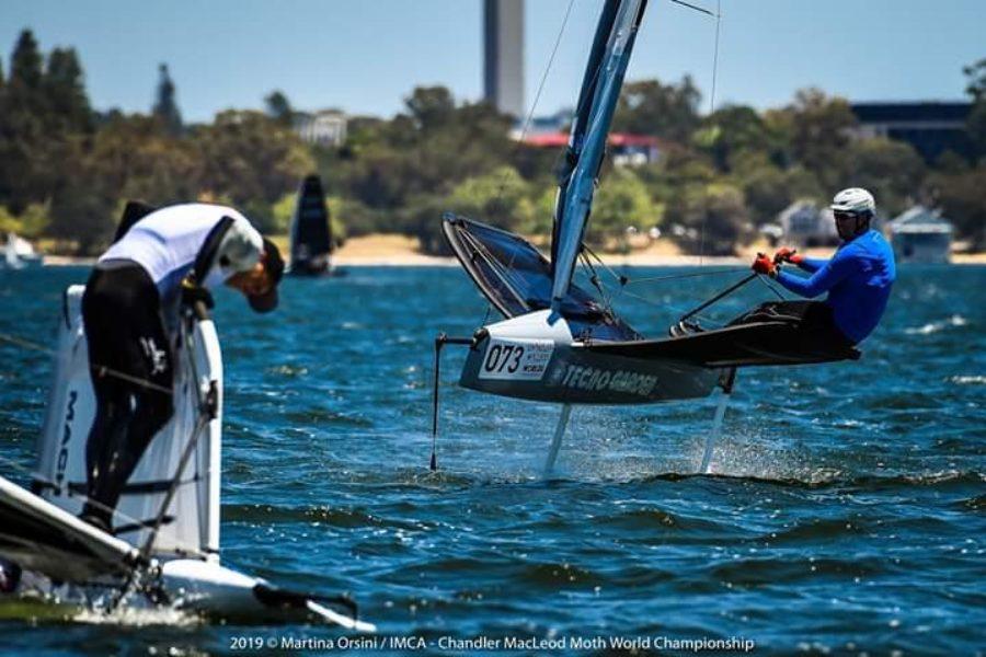 Enrico Zennaro a Perth per i mondiali Moth