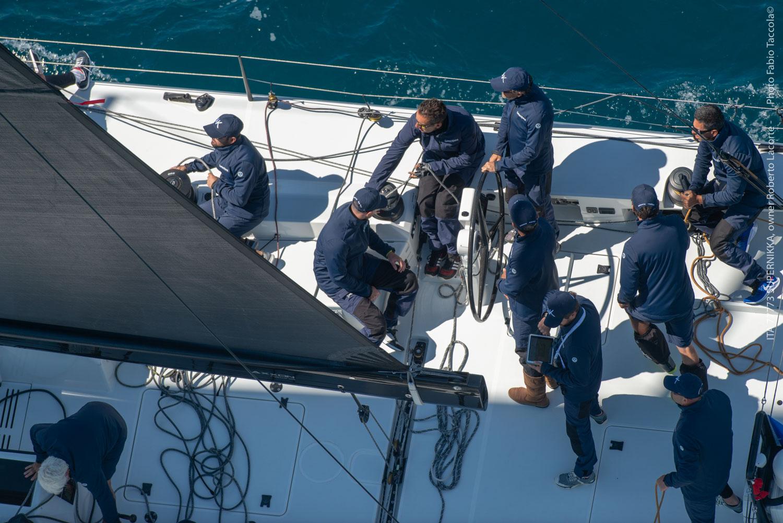 Enrico Zennaro su Supernikka alla Maxi Yacht Rolex Cup