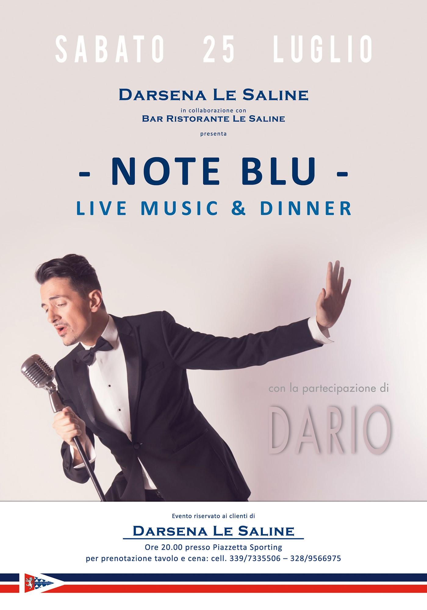 Sabato 25.7 Note Blu – Live music & dinner